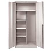 Hallowell 800 Series 1 Tier 1 Wide Storage Locker; Platinum Antimicrobial