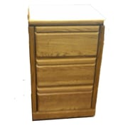 Forest Designs 3-Drawer File Cabinet; Black Adler