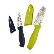 Fiesta 4 Piece Decal Knife Set; Flamingo
