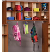TotMate Eco 10-Section Cubby Wall Storage; Cherry