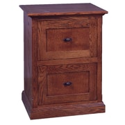 Forest Designs 2-Drawer File Cabinet; Black Adler