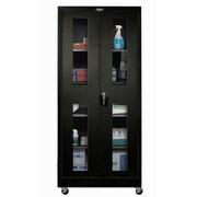 Hallowell 400 Series 48'' Mobile Ventilated Storage Cabinet; Midnight Ebony