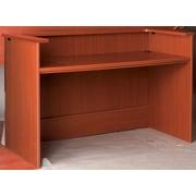 Stevens ID Systems Library Rectangular Reception Desk Station with Patron Ledge; Light Oak
