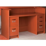 Stevens ID Systems Library Reception Desk; Light Oak