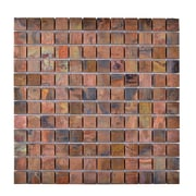 Legion Furniture Metal Mosaic Tile in Brown