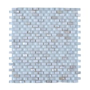 Legion Furniture Random Sized Stone and Glass Glazed Mosaic Tile in White