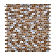 Legion Furniture Stone and Glass Mosaic Tile in Brown