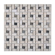 Legion Furniture Random Sized Stone Matte Mosaic Tile in Beige