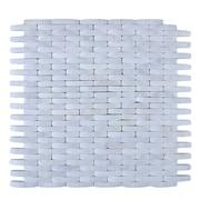 Legion Furniture Stone Mosaic Tile in White
