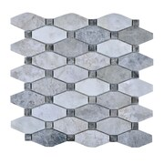 Legion Furniture 11.75'' x 11.75'' Stone Mosaic Tile in Gray