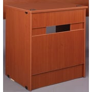 Stevens ID Systems Library 36'' Computer Desk with Drawer and Locks; Medium Oak