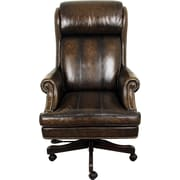 Parker House High-Back Executive Leather Chair; Black/Brown