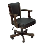 RAM Game Room Cushioned Game Table Arm Chair; Cappuccino