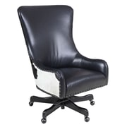 Hooker Furniture Leather Tilt Swivel Executive Chair; Nouveau Black