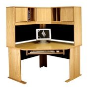 Rush Furniture Office Modulars Computer Desk with Keyboard Shelf