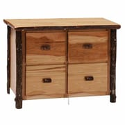Fireside Lodge Hickory 4-Drawer File Cabinet; Espresso