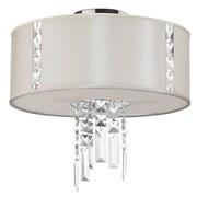 Radionic Hi Tech Rita 2 Light Crystal Semi-Flush Mount; Pearl