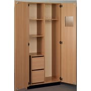 Stevens ID Systems Science 36'' Instructor Storage Cabinet with File Ped; Medium Oak