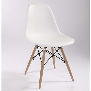 design tree home eames style side chair white staples