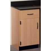Stevens ID Systems Science 18'' Left Hinge Drawer/Door Cabinet; Medium Oak