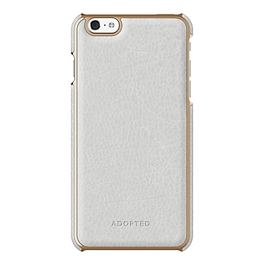 Adopted Leather Wrap Case for iPhone 6 Plus, White and Gold