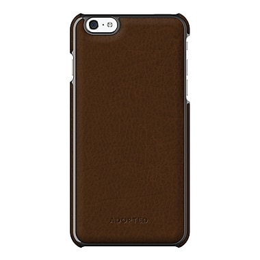Adopted Leather Wrap Case for iPhone 6 Plus, Sumatra and Gunmetal