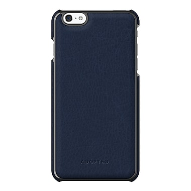 Adopted Leather Wrap Case for iPhone 6 Plus, Navy and Gunmetal