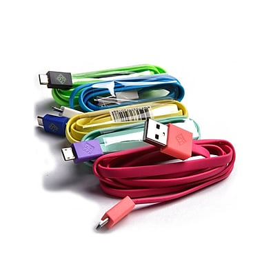 BlueDiamond ToGo Micro USB Sync & Charge Cables, Android/Blackberry/Microsoft, 5/Pack