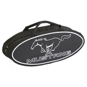 Go Boxes 25'' Mustang Oval Shaped Canvas Bag in Black with White Lettering