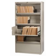 CommClad Hirsh HL8000 Series Wide Commercial Lateral Files Open Filing Unit; Putty
