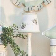 Brandee Danielle Flutter Bees 8'' Cotton Empire Lamp Shade