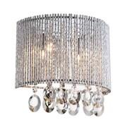 Bromi Design Crystalline Round 2 Light Crystal Wall Sconce