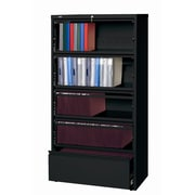 CommClad Hirsh HL8000 Series Wide Commercial Lateral Files Open Filing Unit; Black