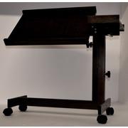 Sacro-Ease Adjustable Laptop Cart; Black