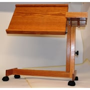 Sacro-Ease Adjustable Laptop Cart; Teak