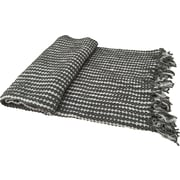 A&B Home Nautica Textured Grand Chenille Throw; Gray