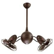 Matthews Fan Company 37'' Acqua Dual 6 Metal Blade Rotational Ceiling Fan; Textured Bronze