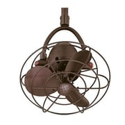 Matthews Fan Company 16'' Diane Oscillating 3 Metal Blade Ceiling Fan with Remote; Textured Bronze