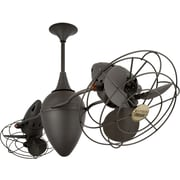 Matthews Fan Company 48'' Ar Ruthiane 6 Metal Blade Rotational Ceiling Fan; Bronze