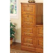 Wildon Home Paulina 4-Drawer File Cabinet; Oak