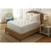 Dream Cloud Boardwalk Stripe Tufted Down Alternative Fiberbed w/ Gusset; King