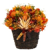 Urban Florals Pilgrims Greeting Wall Basket Wreath