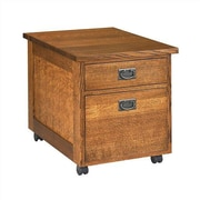 Anthony Lauren Craftsman Home Office 2-Drawer Mobile Utility File Cart