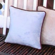 Brandee Danielle Blue Chocolate Minky Polka Dot Throw Pillow; Blue