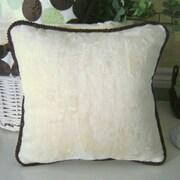 Brandee Danielle Blue Chocolate Minky Polka Dot Throw Pillow; Lemon