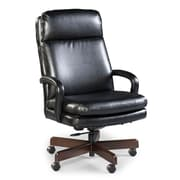Fairfield Chair High Back Leather Executive Swivel Chair; Black