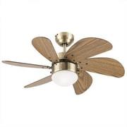 Westinghouse Lighting Turbo Swirl 6 Blade Ceiling Fan; Antique Brass with Walnut Blades