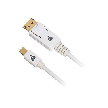 Iogear® 6' Mini Displayport To Displayport 1.2 Gold-Plated A/V Cable, White