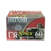 Maxell® 109085 UR Type I Blank Audio Cassette Tape, 8/Pack