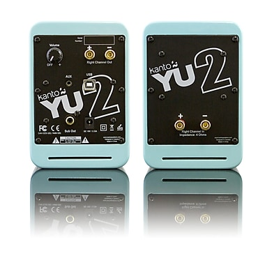 Kanto YU2 Powered Desktop Speakers, Gloss Teal